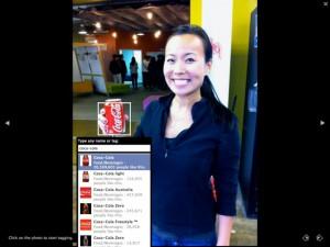 Beispiel einer Fotomarkierung mit Coca-Cola